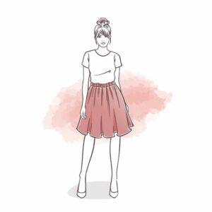 rozkloszowana spódnica dla kobiet