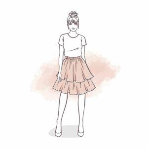 spódnica z falbankami dla kobiet