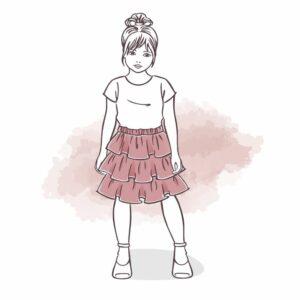 falbanki dla dziewczynki