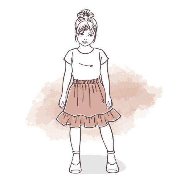 spódnica dla dziewczynki