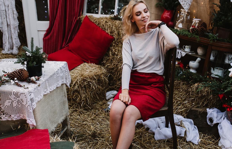 spódnica świąteczna